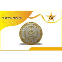 Buy cheap Stamped Brass Metal Coins With Pantone Chart Colors , Epoxy Optional from wholesalers