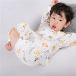 Buy cheap Long Sleeve Muslin Sleeping Bag Anti Kick Crawling Clothes Eco Friendly Printing from wholesalers