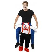 Buy cheap Men Halloween Sinister Clown Piggy Back Animal Mascot Costumes from wholesalers