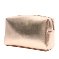 Buy cheap Fashion Cosmetic Leather Golden Promotional Gifts Bags from wholesalers