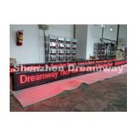 Buy cheap Indoor Single Red Led Moving Message Sign P 10 with Aluminum Frame from wholesalers