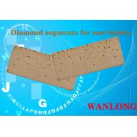 Buy cheap WANLONG black diamond segment for south africa ,india ,diamond cutting segment for hard stones cutting and grinding from wholesalers