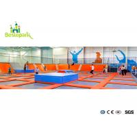 Buy cheap Soft Play Indoor Trampoline Gym Equipment With Good Elastic Performance Springs from wholesalers