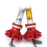Buy cheap H4 H7 H8 H9 H11 9005 led headlight lamp X3 led headlight 3 color changeable offroad led headlight Bulb from wholesalers