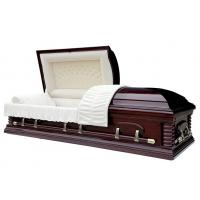 Buy cheap Amarican style coffin cloth covered funeral casket from wholesalers