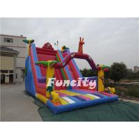 Buy cheap 0.55mm PVC Tarpaulin Double Lane Inflatable Toys Slide for Kids Entertainment from wholesalers