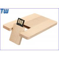 Buy cheap Wooden Credit Card 1GB Pendrives Flash Card 3D Laser Engraved Logo from wholesalers
