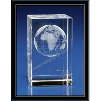 Buy cheap Crystal 3D Laser Etched Globe from wholesalers