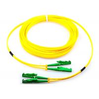Buy cheap Single Mode Fiber Optic Patch Cord Duplex G652D 9 / 125 Yellow With E2000 Connector from wholesalers