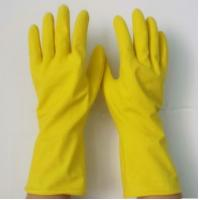 Buy cheap Yellow Durable PVC Household Gloves Waterproof For House Cleaning from wholesalers