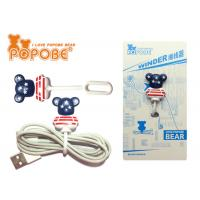 Buy cheap Cute Bear Shape Earphone Cable Winder PVC Management Rope Winder from wholesalers