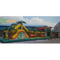 Buy cheap Adult Inflatable Obstacle Course Bounce House , Blow Up Obstacle Course from wholesalers