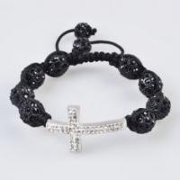 Buy cheap Low price and best service Tresor Paris Shamballa Crystal Bangle Bracelets with black bead from wholesalers