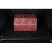 Buy cheap Waterproof Pu Leather Foldable Car Trunk Organizer Red Color 50 * 32 * 30cm product
