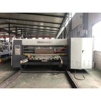 Buy cheap Lead Edge Flexo Printer Slotter Die Cutter With Folder Gluer In Line / Case Maker Machine from wholesalers