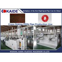 Buy cheap Cross Linked PE Pipe Extrusion Line 15m/min 35m/min PEX Pipe Making Machine from wholesalers