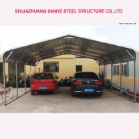 China Regular style portable metal carports and carport with roofing sheet for one/two/three cars on sale