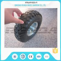 Buy cheap Staright Valve Pneumatic Rubber Wheels , Pneumatic Caster Wheels 3.50-6 Steel Rim from wholesalers