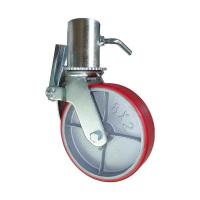Buy cheap 6 Inch 8 Inch Scaffold Caster Wheel With Brake Roller Bearing High Load from wholesalers