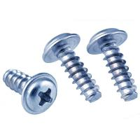 Buy cheap White Zinc Plated Pan Head Phillips Self Tapping Screws With Fixed Washer from wholesalers