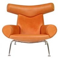 Buy cheap Ox Chair with Ottoman Designer Chair Leather Office walk Chair Recliner from wholesalers