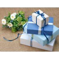 Buy cheap Cuboid Custom Gift Paper Boxes Gravure Printing With Silk Ribbon product