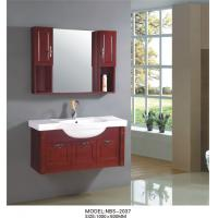 Buy cheap Cherry wood bathroom vanity optional drains / Faucet , natural wood bathroom cabinets with painting from wholesalers