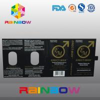 Buy cheap Effect 100% ERECT-MEN Sex Pill Packaging Paper Box With Card Customized Design from wholesalers
