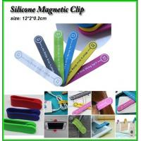 Buy cheap silicone magnet clip, silicone clip with magnet, silicone mobilephone holder from wholesalers