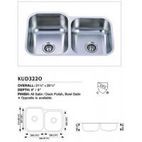 Buy cheap Stainless Steel Undermount Double Sink KUD3220 from wholesalers