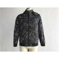 Buy cheap Black Mens Polyester Jacket Coated Printed With Detachable Hood TW58570 from wholesalers