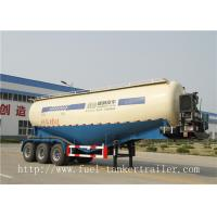 China Tri-axle dry bulk trucking transportation tank semi trailer with air compressor on sale