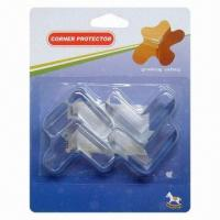 Buy cheap Child-proofing Products, Eco-friendly Plastic PVC Corner Protectors, Sized 41 x 41 x 15mm from wholesalers