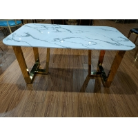 Buy cheap 75cm Luxury Marble Dining Table from wholesalers