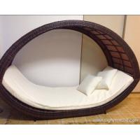Buy cheap Removable Canopy Sofa Rattan Outdoor Furnitures / Garden Lounge Rattan product