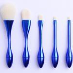 Buy cheap Blue OEM Handle Full Makeup Brush Set Portable Blending Brush Fashion Shape from wholesalers