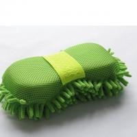 Buy cheap Microfiber Car Wash Sponge With Mesh And Wrist Band Chenille Car Wash Sponge Pad from wholesalers