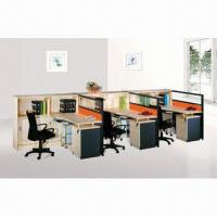 Buy cheap Straight Line Modular Office Workstations with Cable Hole and Moving Cabinet from wholesalers