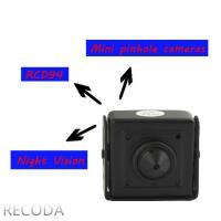 Buy cheap RECODA RCDP4 3D DNR 800TVL pinhole micro Hidden Cameras in Cars , Low Lux product