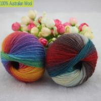 Buy cheap 500g/lot luxury quality 100% wool yarns fancy iceland thick Hand knitting for yarn colorful knit yarn dye wool sweater k from wholesalers