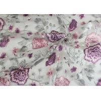 Buy cheap Embroidery Multi Colored Lace Fabric Polyester On Nylon Mesh With Flower Design from wholesalers