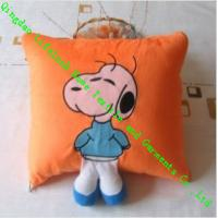 Buy cheap Cute Snoopy Silk Throw Pillows For Sofa , 100% Wool Square Quilted Cushion from wholesalers