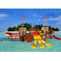 Buy cheap Pirate Ship Water Playground Equipment / Indoor Commercial Playground Slides from wholesalers