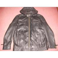 Buy cheap 2012 mens navy casual leather single face jacket from wholesalers