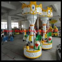 Buy cheap Shopping mall attraction 3 seats mini carousel horse rides for sale from wholesalers