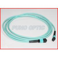 Buy cheap 12 Cores MTP Fiber Optic Jumper Cable Pre Terminated Assembly OFNP Jacket from wholesalers