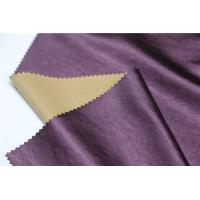 Buy cheap Shining Synthetic Leather Material , 0.4mm Leather Look Polyester Fabric from wholesalers