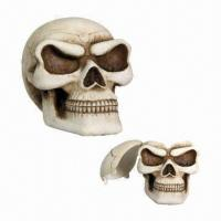 Buy cheap Resin Skull Ashtray, Suitable for Gift, Eco-friendly and Handmade from wholesalers