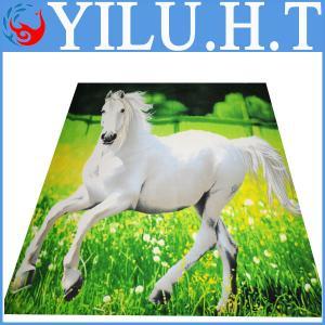 China horse printed polar fleece fabric blankets horse design animal pattern on sale