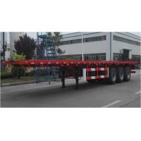 Buy cheap 3 axles 13meters Flat bed semi trailer for 20ft/40ft containers from China in factory price Fuwa 3 axles trailer from wholesalers